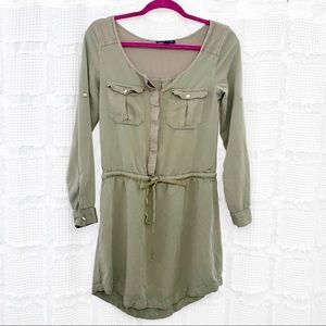 AEO drawsting olive green dress XXS